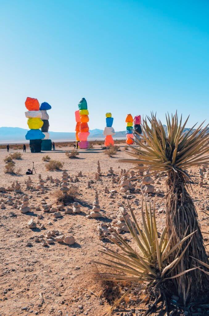 Seven Magic Mountains near Las Vegas
