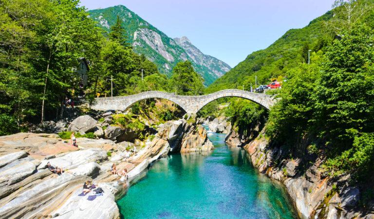 Valley Verzasca in Ticino, Switzerland