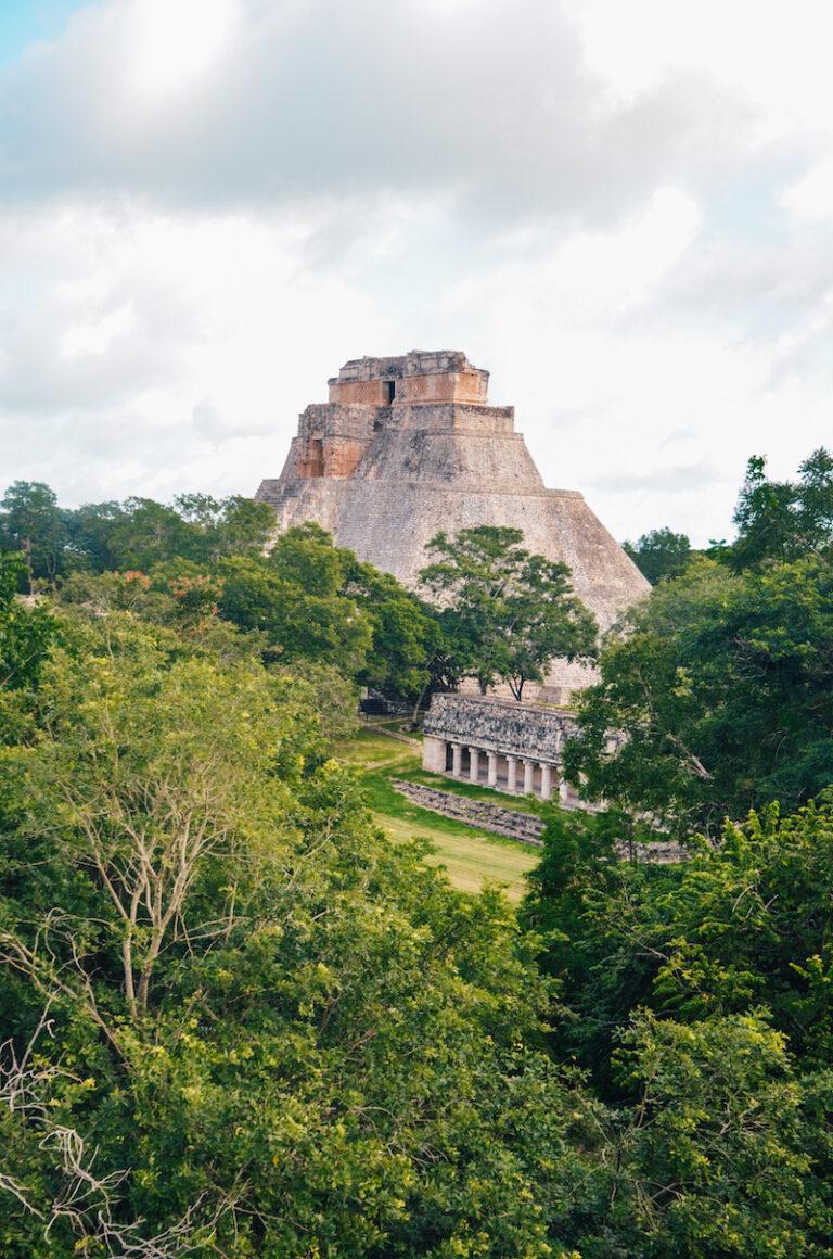 Visiting ruins of Uxmal in Yucatan